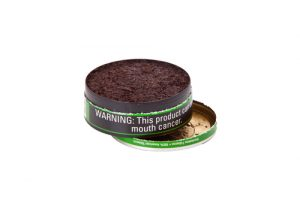 container of chewing tobacco